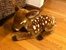 "FAO Schwarz Deer Fawn Laying 19"" Realistic Plush Toys R US 2015 Stuffed Toy D3"