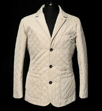 Isaia Prototype Storm System Cotton Quilted Field 4Btn Blazer Coat Jacket 50 M/S