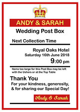 Personalised Royal Mail Post Box Wedding