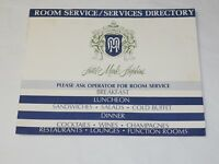 Scarce HOTEL MARK HOPKINS San Francisco ROOM SERVICE/SERVICES DIRECTORY 1960'S