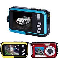 "2.7"" Digital Camera 24MP 16x Zoom Dive Full HD Video Camera Camcorder Waterproof"
