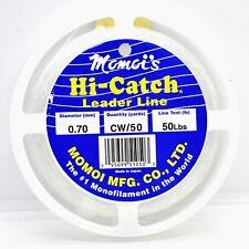 Momoi Hi-Catch Leader 50lb 50yds Clear