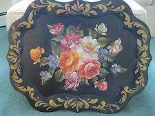 Handpainted Tole Tray - Vintage Large