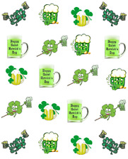 """St (Patty's) Patrick's Day """"BEER ROCKS""""  Waterslide Nail Decals/Nail art"""