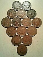 1895 - 1909  FINAL 15 YEARS of Indian Head Pennies Cents 1c IHC