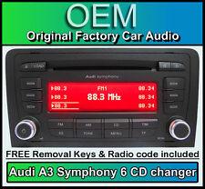 AUDI a3 cambia CD 6 Lettore mp3, Audi Symphony Autoradio Con Codice Radio + CHIAVI