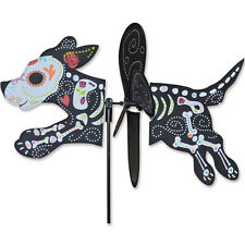 "Day of the Dead Dog 16"" Whirligig Petite Staked Wind Spinner.11. Pr 25192"