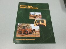 Kawasaki Wheel Loader Quick Coupler & Attachments Literature 8 Pages