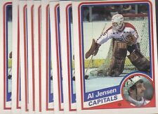 1984-85 O PEE CHEE HOCKEY LOT (9) AL JENSEN #201 CAPITALS NMMT/MINT *L024