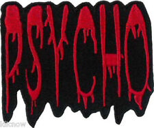 """PSYCHO Embroidered Patch 8cm x 6.5cm (3"""" x 2 1/2"""") Sew On/ Iron On"""