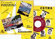 FRED BUSCAGLIONE E I SUOI ASTERNOVAS   Raro Lotto EP + 45 Giri   PORTOFINO