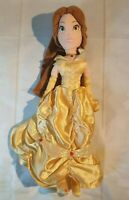 "Disney Belle Soft toy 20"" Plush doll Beauty & the Beast gold dress"