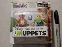 Diamond Select Disney's Muppets Minimates Fozzie Bear & Scooter! Lego type!