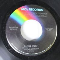 Rock 45 Elton John - Lucy In The Sky With Diamonds / One Day At A Time On Mca Re