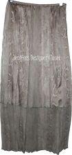 NWT ELIE TAHARI silk chiffon 4 $498 maxi skirt career reptile semi sheer bottom