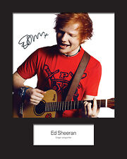 ED SHEERAN #2 10x8 SIGNED Mounted Photo Print - FREE DELIVERY