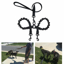 Retractable Double Dog Leash Flexi Dual Coupler Walking Training Two Puppy Lead
