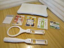 Nintendo Wii Fit Bundle Balance Board EA Active Biggest Loser Wii Sports