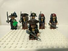 LEGO Pirates Barbossa ×2, Jack Sparrow ×4, Minifigure Lot