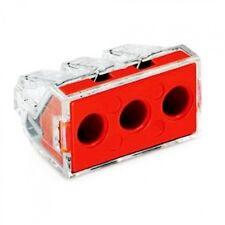 Conector de Cable de empuje Wago 773-173 3 X 10 Rojo Cable