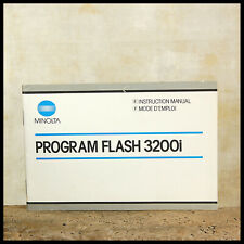 Minolta Instruction Manual Program Flash 3200i Original Genuine OEM