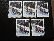 NORVEGE - timbre yvert et tellier n° 1081 x5 obl (A04) stamp norway (Y)
