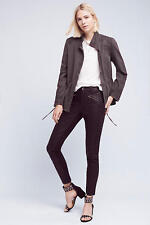 NWT SZ S $168 ANTHROPOLOGIE TRAVIS CARGO JACKET BY LOVE SAM GRAY EMBROIDERED