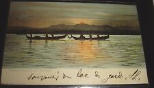 Sonnenuntergang Am Gardasee Italy Postcard Posted With 1901 Stamp