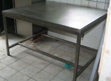 Edelstahl Tisch 140x117x83 cm. ca.