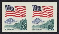 #2280b 25c Flag Over Yosemite, Imperf Pair, Mint **ANY 4=FREE SHIPPING**