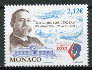 Monaco Royalty Stamps 2021 MNH Prince Albert I Speech on the Ocean 1v Set