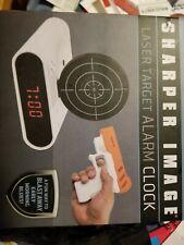 Nib Sharper Image Laser Target Alarm Clock Gift New