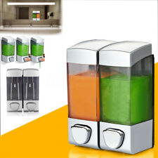 Wall Mounted Shampoo Soap Dispenser Sanitizer Bathroom Shower Liquid Lotion Pump