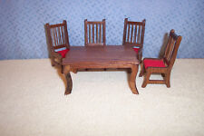 CONCORD MINIATURES  DINNING TABLE & 4 CHAIRS IN BOX