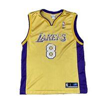 Kobe Bryant Los Angeles Lakers NBA Jersey Men L Reebok Authentic #8 Mamba
