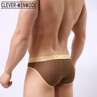 Men/'s en cuir synthétique Hoop sous-vêtements Boxer Slips Noir Intelligent-menmode