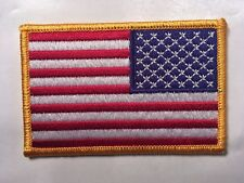 american flag patch reverse flag patch reverse gold border patch