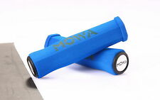 MOWA GR01 Foam Mountain MTB BMX Cycling Bike Handlebar Grips w/end caps Blue
