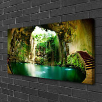 Canvas print Wall art on 100x50 Image Picture Waterfall Landscape