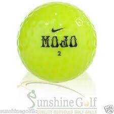24 NEAR MINT Nike MOJO Lucky #7 Yellow AAAA Used Golf Balls