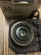 Panasonic Lumix G 20mm f/1.7 II Aspherical AF G Lens (Black) - NEW