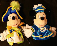 Pair of TOKYO DISNEY SEA MICKEY & MINNIE MOUSE HAND PUPPETS from Japan-ship free