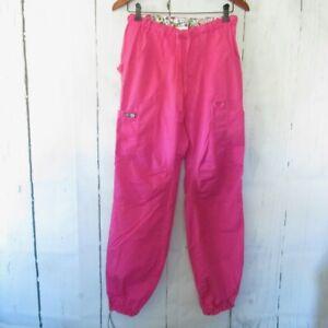 "Koi Lindsey 701T Scrub Pants S Small Tall Pink Cargo Uniform 32"" Inseam"
