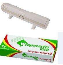 "Wrapmaster DISPENSER 1000 12 ""PLUS x 3 rotoli di clingfilm 30cm x 100m ogni rotolo"
