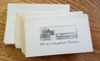 """Vintage Antique Early Unused Christmas Cards set of 12 small 4.5"""" x 2.5"""""""