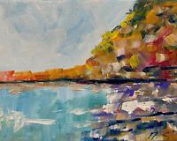 Sea Ocean seashore coast Oil Painting Impressionism LANDSCAPE Collectable Modern