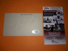 JSA COA NASCAR LEGEND CALE YARBOROUGH SIGNED 3X5 INDEX CARD AUTOGRAPH