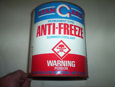 Vintage Stangard Montreal Quebec Anti-Freeze 1 Imp Gallon Oil Can Tin (Antigel)