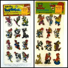 Vtg Woody Woodpecker 1978 Walter Lantz Puffy Stickers Imperial Toy Corporation