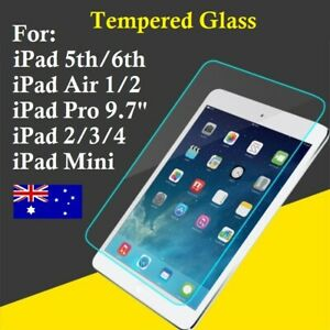Scratch Resist Tempered Glass Screen Protector For Apple iPad 2/3/4 Air Mini Pro